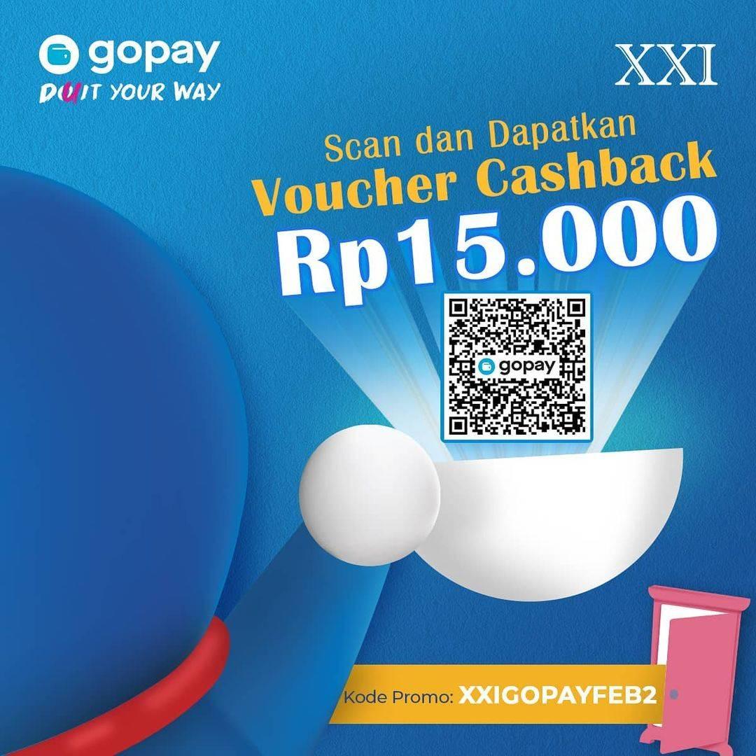 Diskon XXI Cafe Voucher Cashback Rp. 15.000 Dengan Gopay