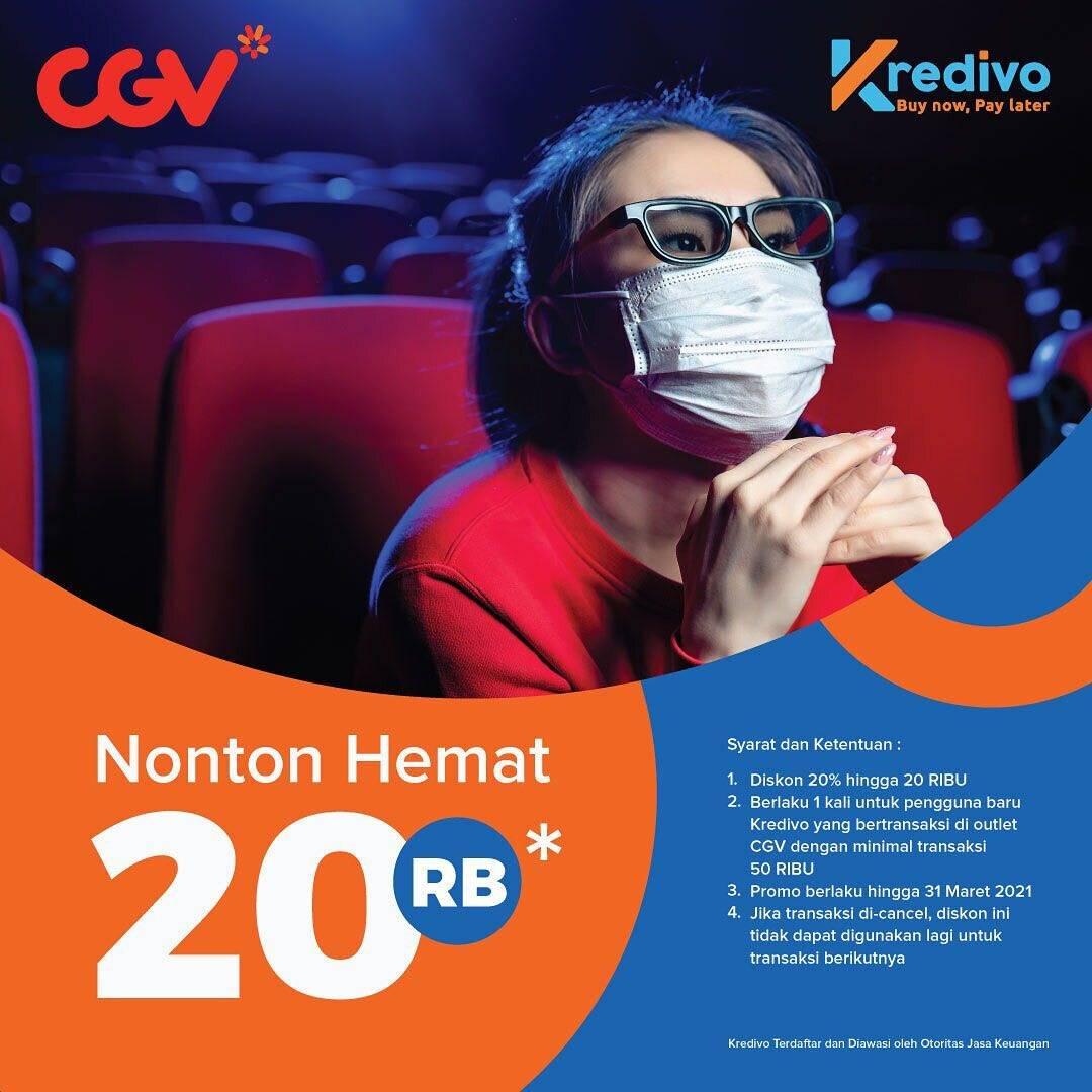 Diskon CGV Diskon Rp. 20.000 Untuk Pembelian Tiket Nonton Dengan Kredivo