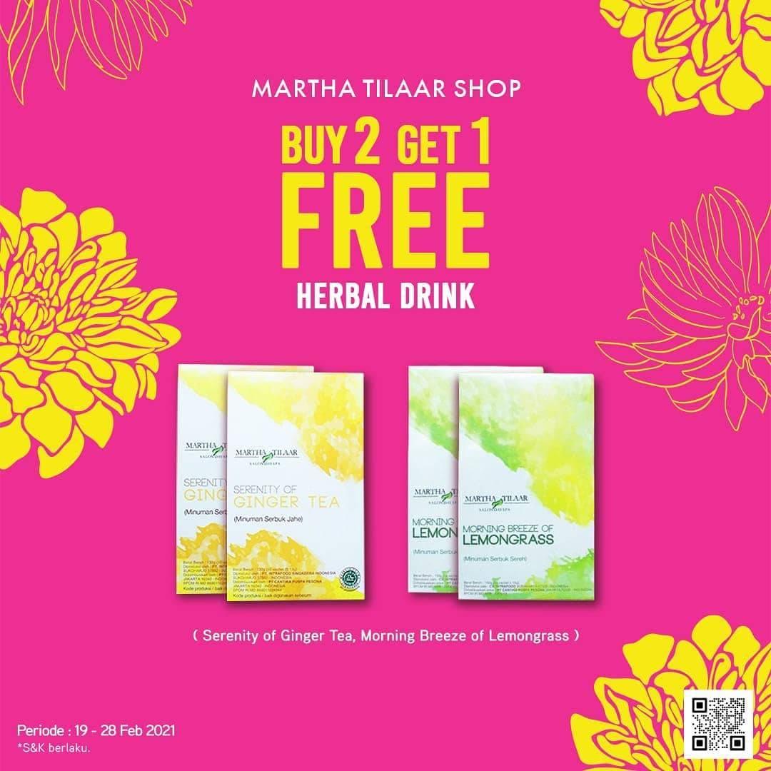 Diskon Martha Tilaar Buy 2 Get 1 Free Herbal Drink