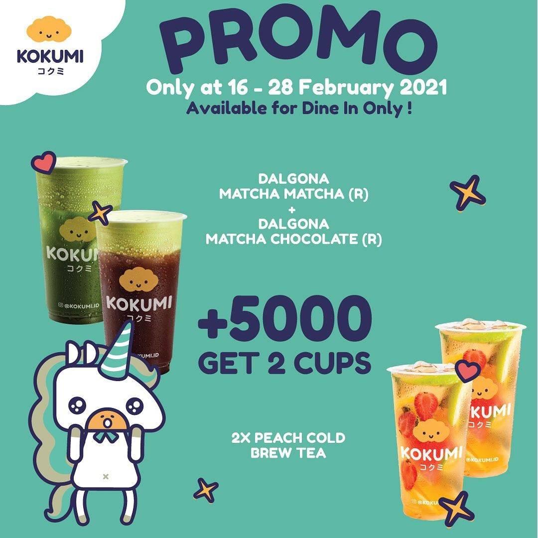 Diskon Kokumi Promo +5.000 Get 2 Cups