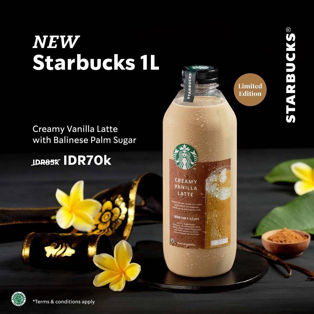 Diskon Starbucks Promo New Starbucks 1L Hanya Rp. 70.000