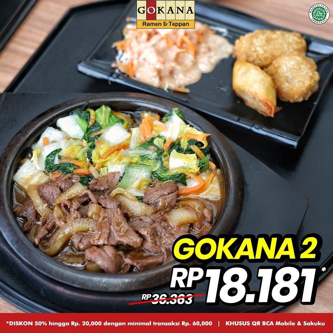 Promo diskon Gokana Diskon 50% Dengan BCA Mobile & Sakuku