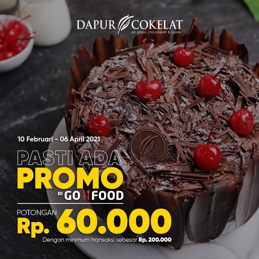 Diskon Dapur Cokelat Potongan Rp.60.000 Dengan GoFood
