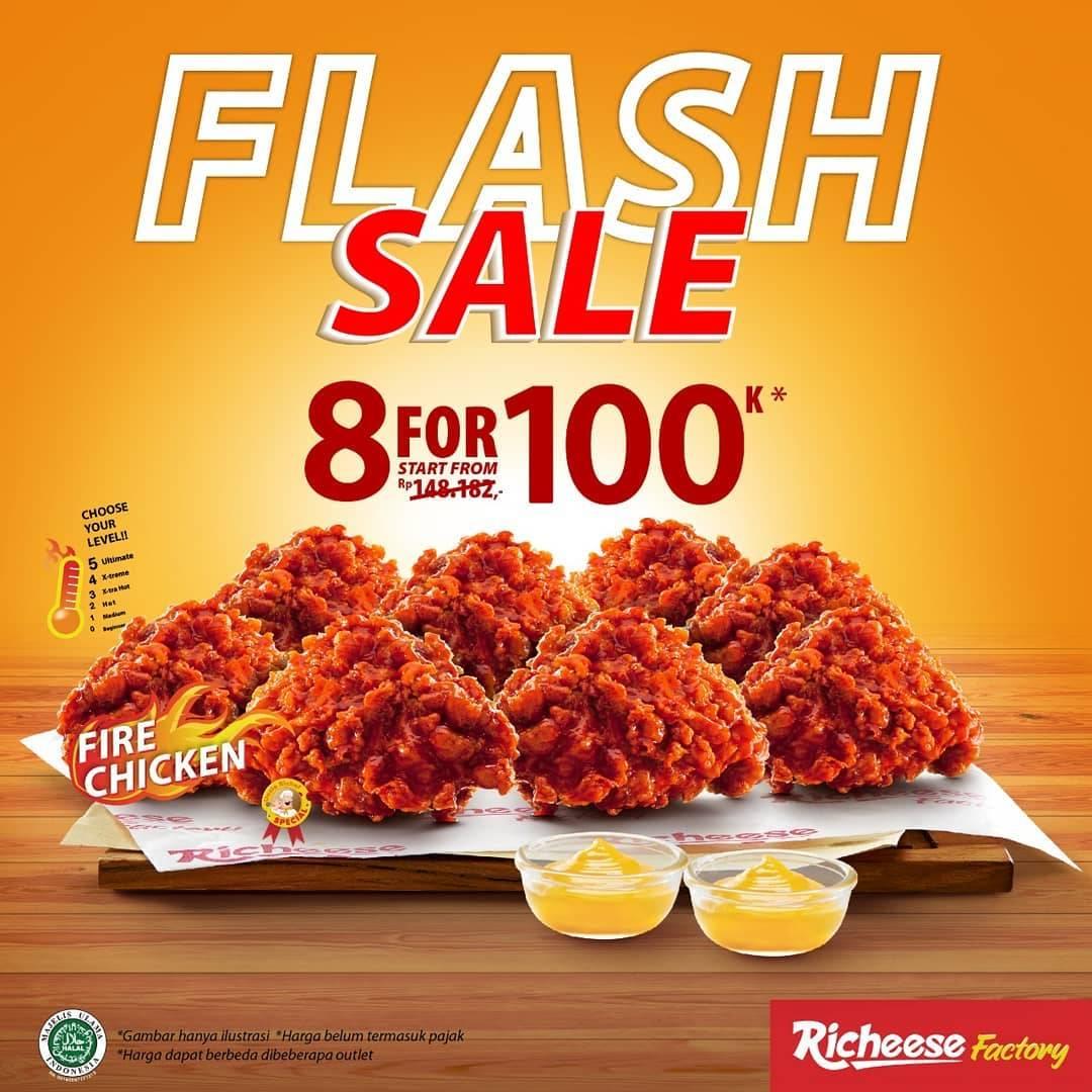 Diskon Richeese Factory Flash Sale 8 Pcs Fire Chicken Harga Mulai Dari Rp. 100.000