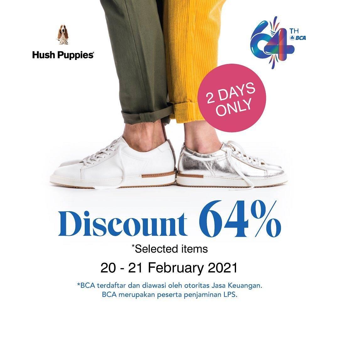 Diskon Hush Puppies Promo HUT BCA Discount 64% Off