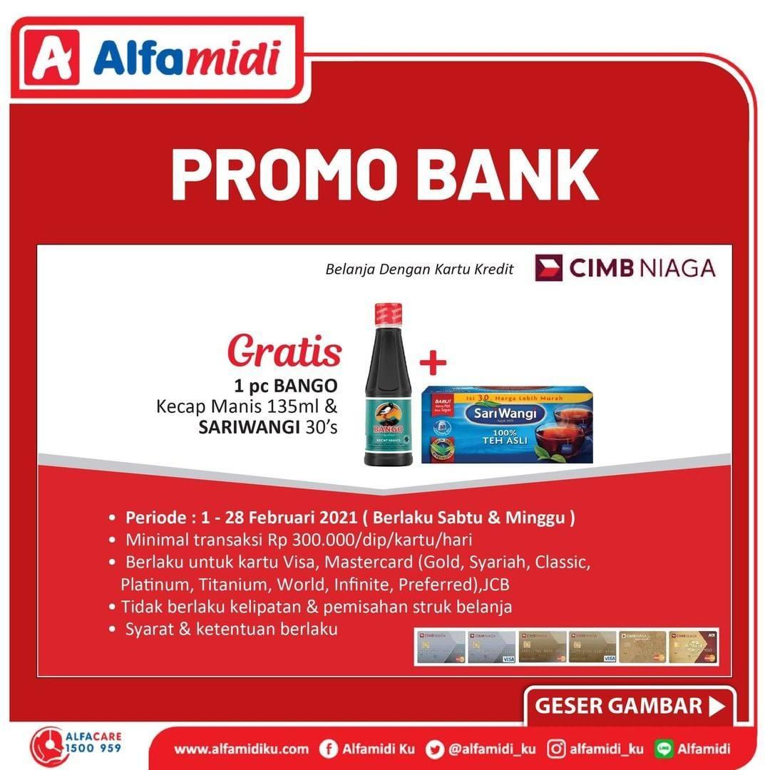 Promo diskon Katalog Alfamidi Promo Bank Terhemat di Alfamidi Periode 1 - 28 Februari 2021