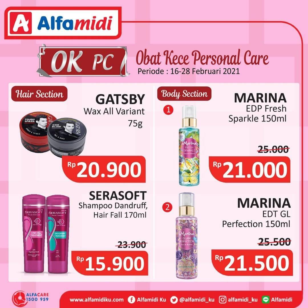 Promo diskon Katalog Promo Alfamidi Personal Care Periode 16 - 28 Februari 2021