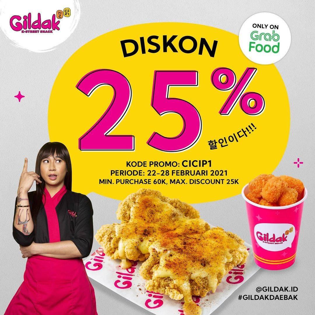 Diskon Gildak Diskon 25% Dengan GrabFood