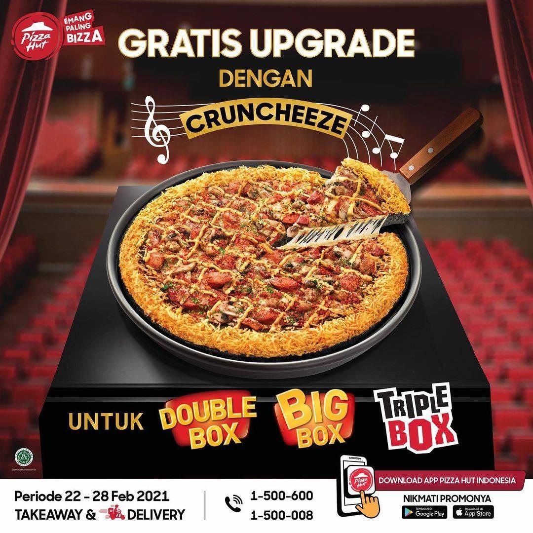 Promo diskon Pizza Hut Gratis Update Dengan Chruncheeze Untuk Pembelian Menu Pilihan