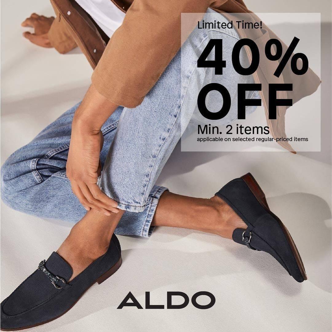 Promo diskon Aldo Shoes Discount 40% Off For Min 2 Items
