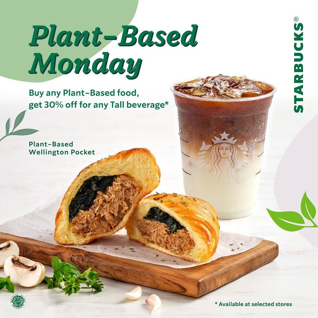 Diskon Starbucks Plant Based Monday Discount 30% Off For Any Tall Beverages