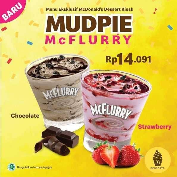 Diskon McDonalds Promo Mudpie McFlurry Hanya Rp. 14.091
