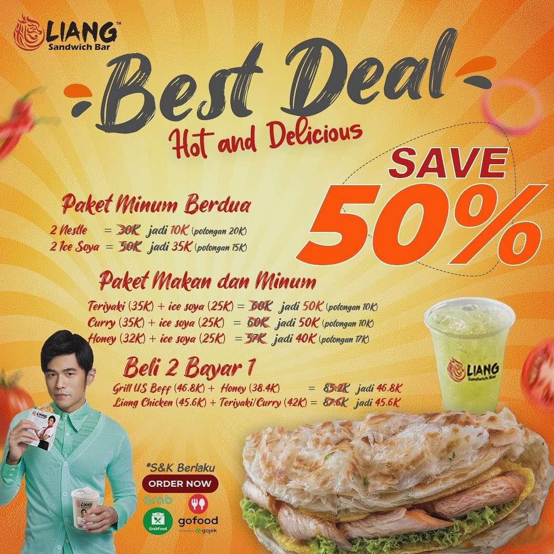 Diskon Liang Sandwich Bar Discount 50% Off