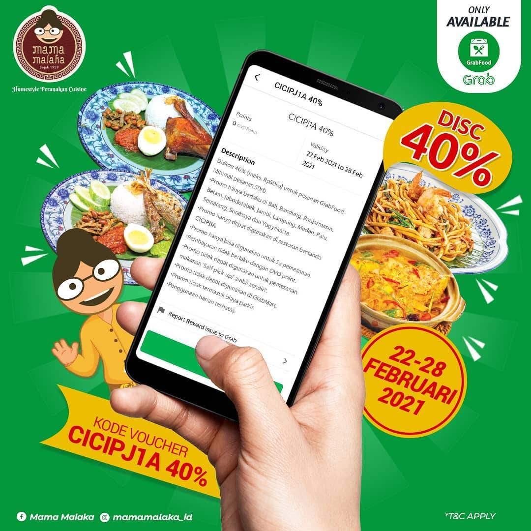 Diskon Mama Malaka Discount 40% Off On GrabFood