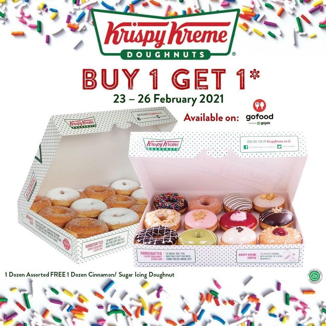 Diskon Krispy Kreme Buy 1 Get 1 Free On GoFood