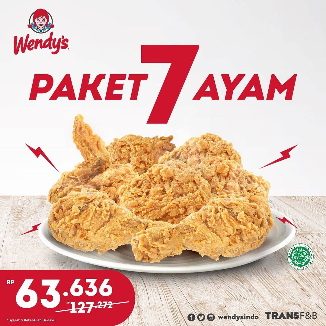 Promo diskon Wendys Promo Family Deal On GoFood