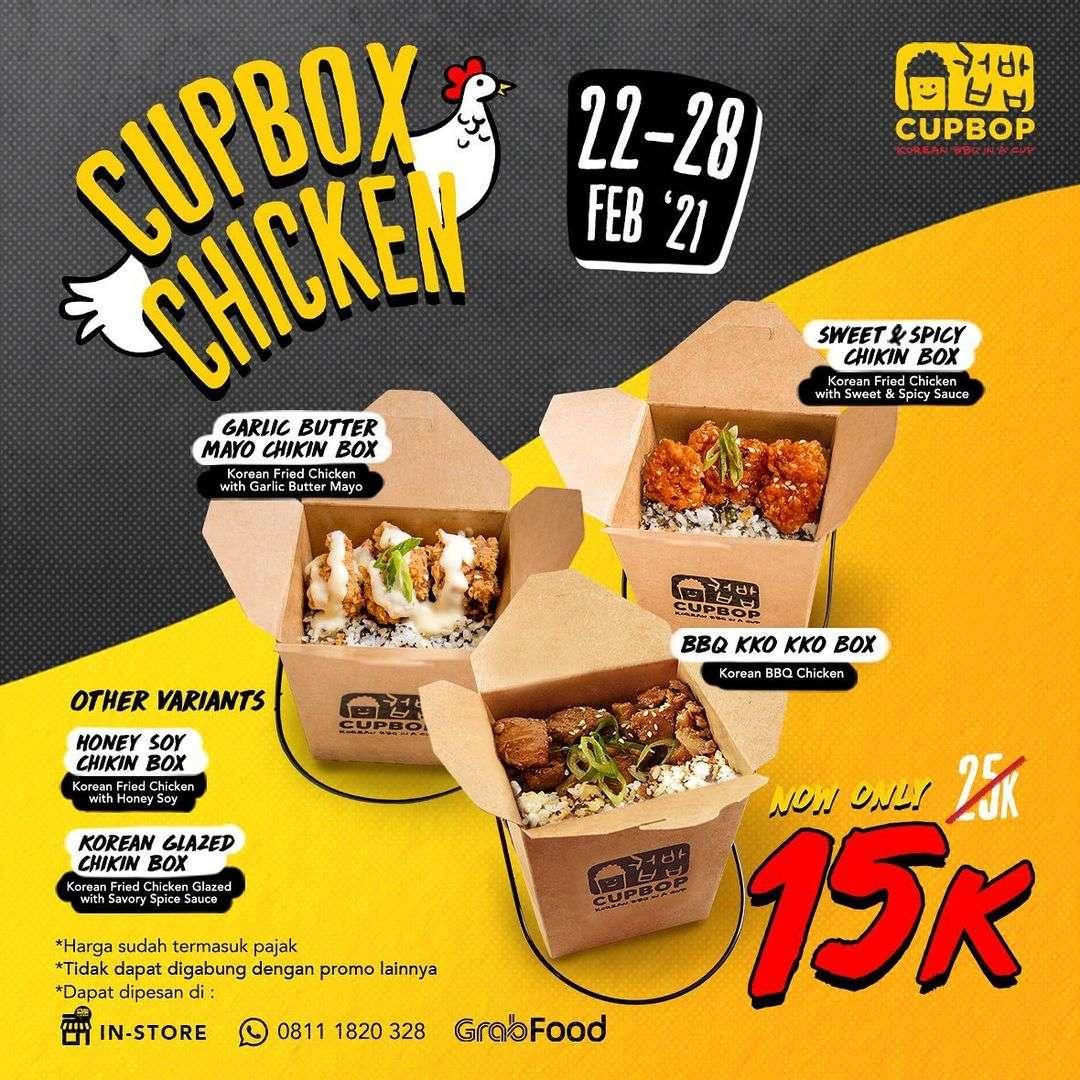 Diskon Cupbob Promo Menu Rp. 15.000 On GrabFood