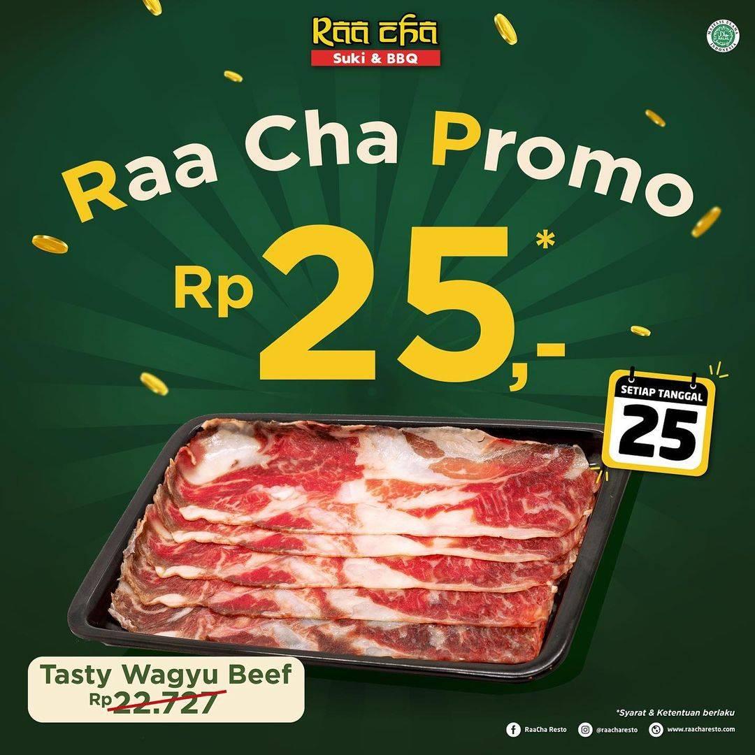Diskon Raa Cha Suki & BBQ Promo Menu Rp.25