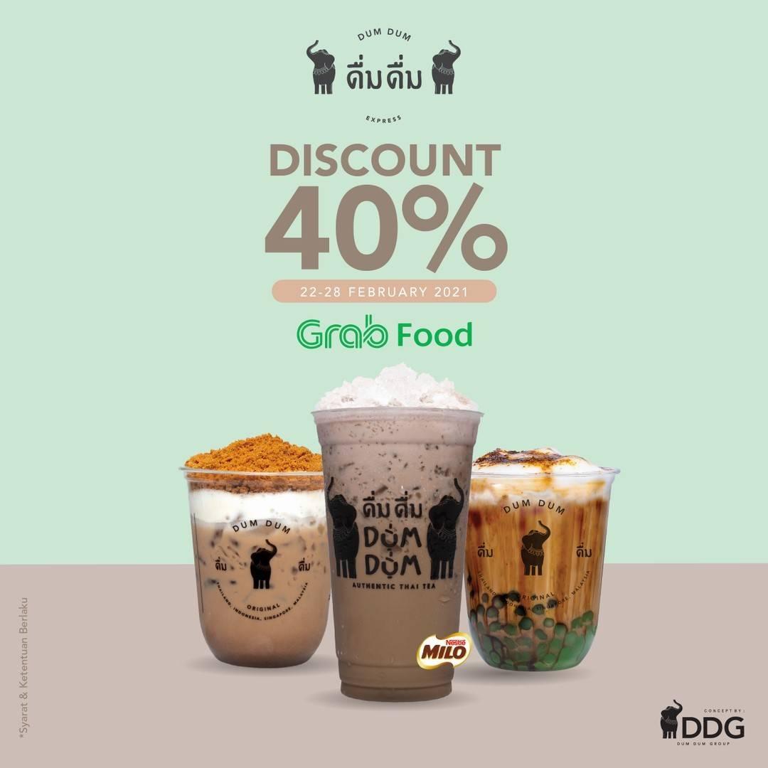 Diskon Dum Dum Thai Tea Discount 40% Off On GrabFood