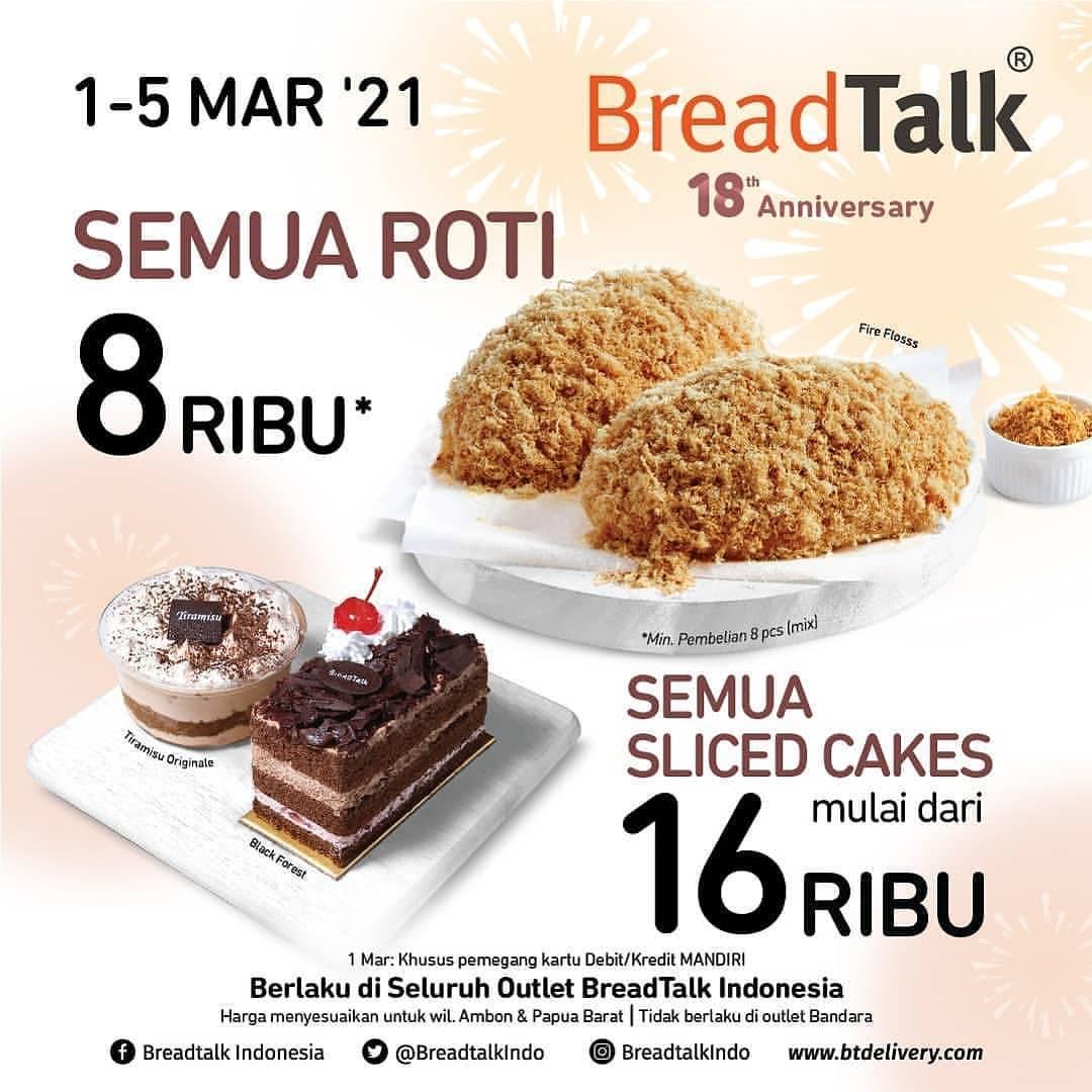 Diskon Bread Talk Promo Breadtalk 18th Anniversary