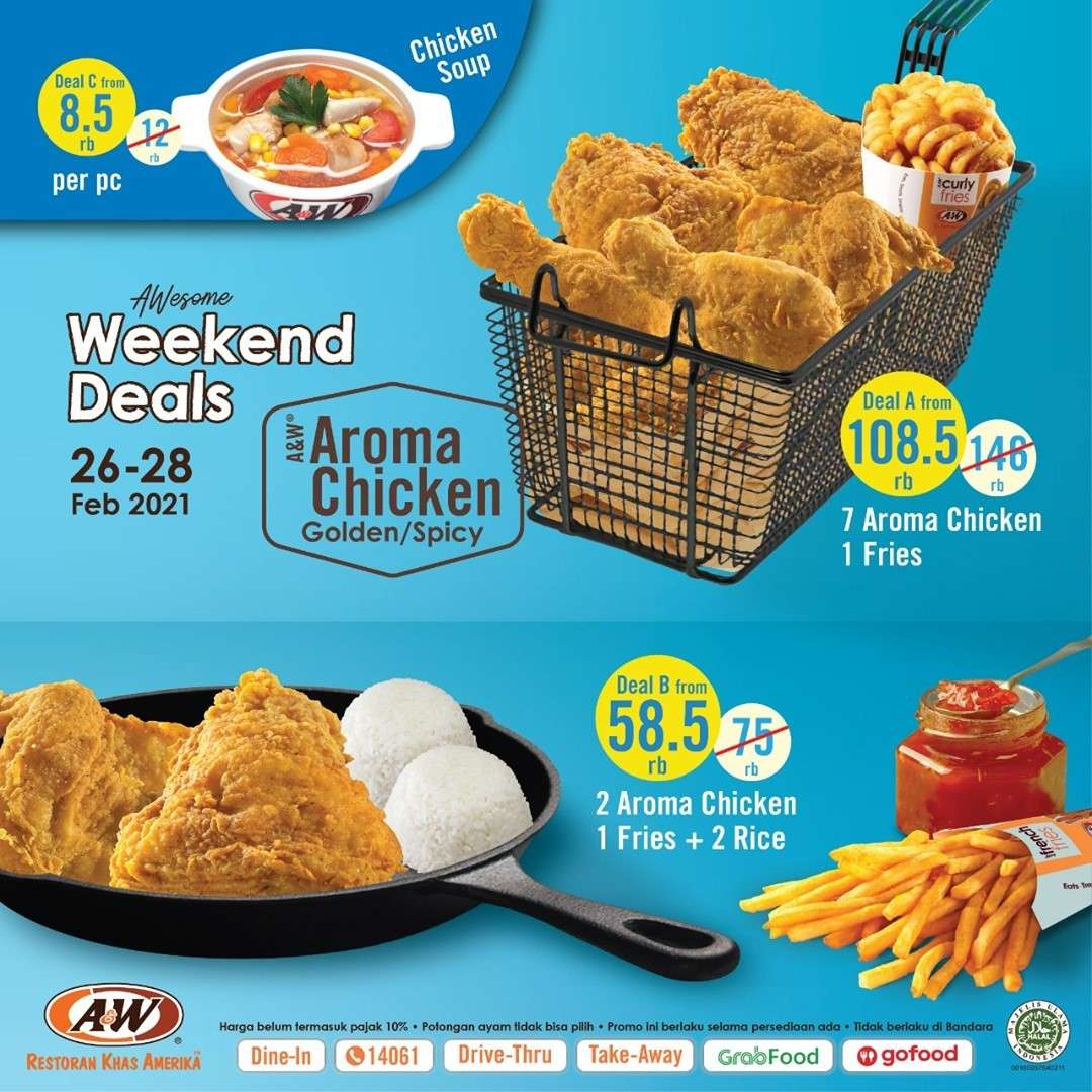Diskon A&W Restaurant Promo Awesome Weekend Deals