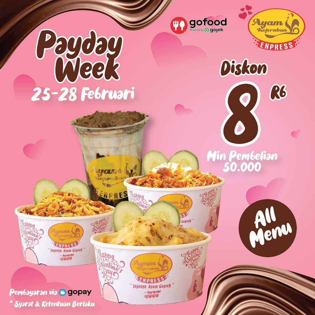 Diskon Ayam Keprabon Payday Week Diskon Rp. 8.000  Dengan GoFood