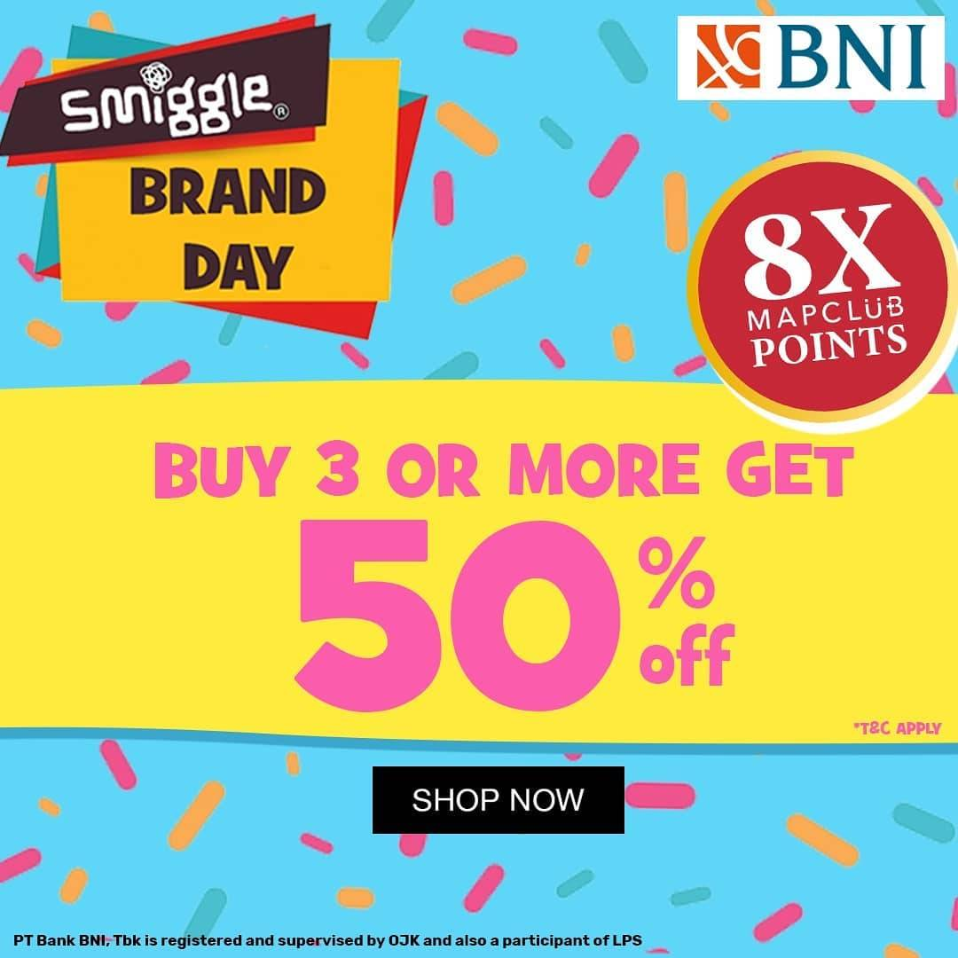 Diskon Kidz Station Smiggle Brand Day Buy 3 Or More Get Discount 50% Off