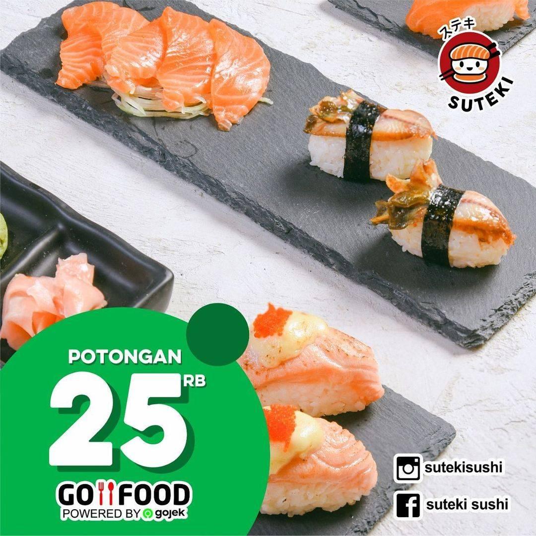 Diskon Suteki Sushi Potongan Rp. 25.000 Dengan GoFood