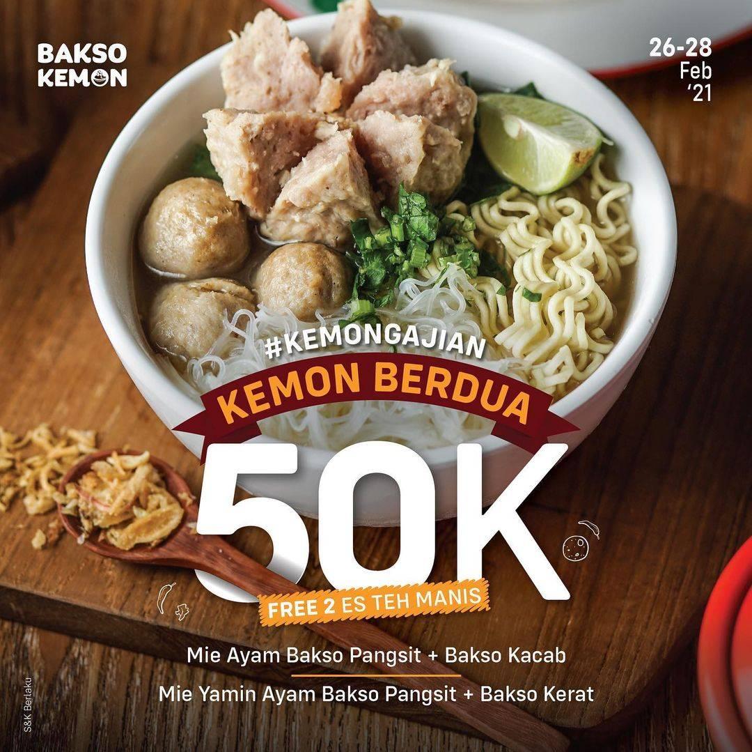 Diskon Bakso Kemon Promo Kemon Berdua Hanya Rp. 50.000