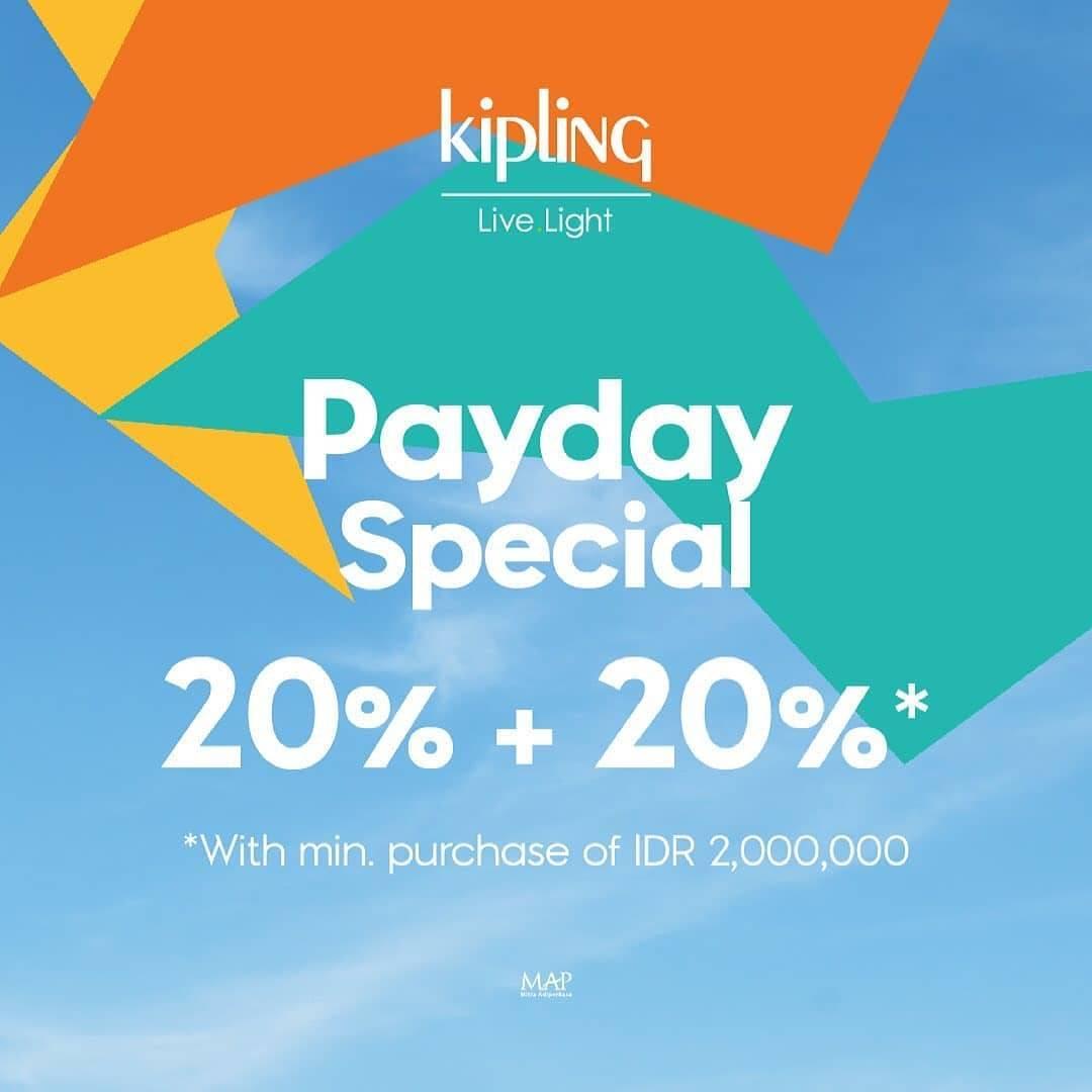 Diskon Kipling Discount 20% +20% Off