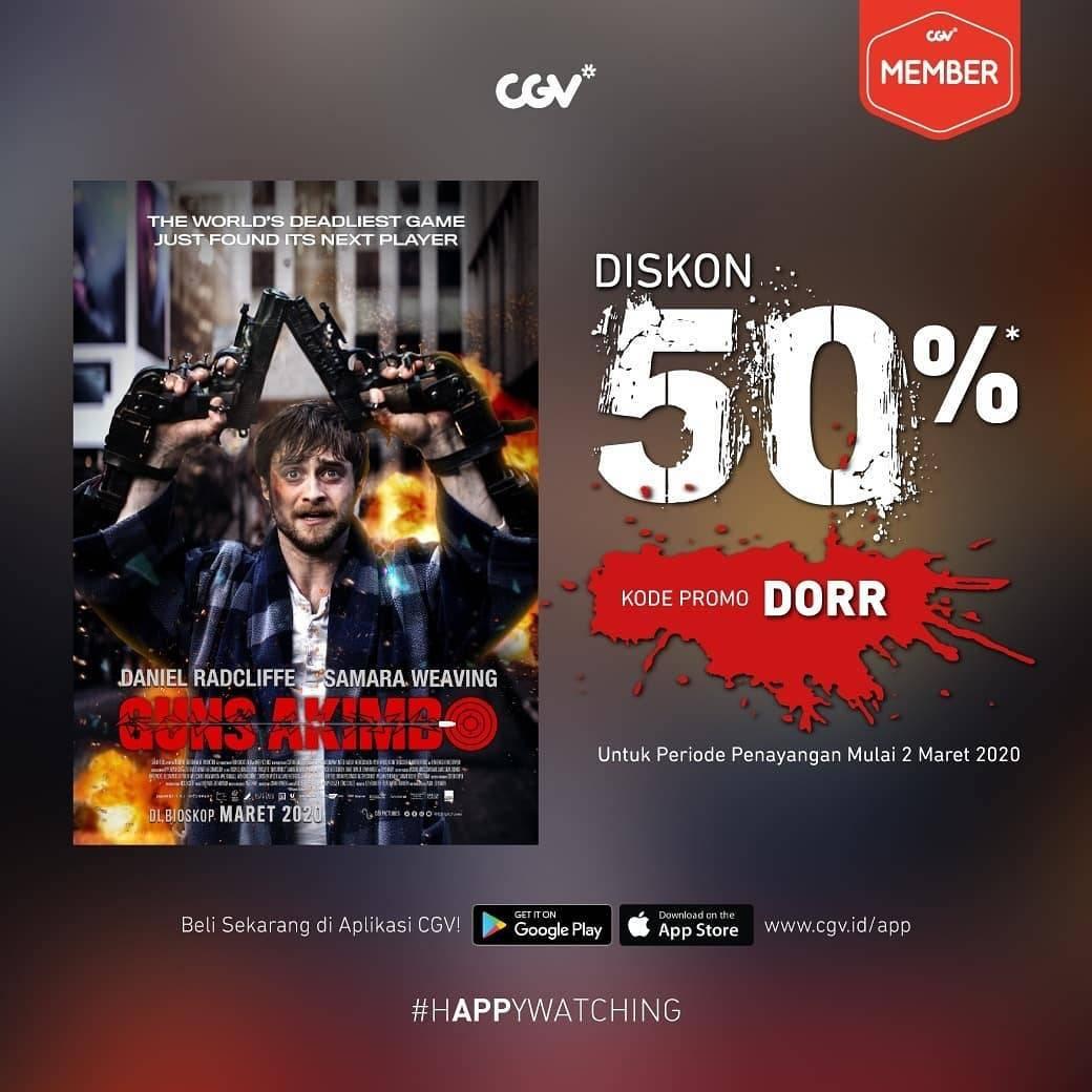 CGV Promo Diskon 50% Untuk Tiket Film Guns Akimbo
