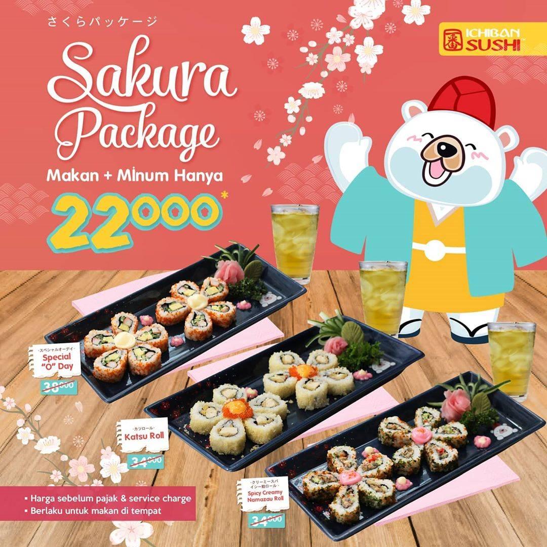 Ichiban Sushi Promo Sakura Package Cuma Rp. 22.000