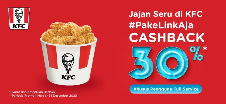 KFC Promo Cashback 30% Pembayaran Dengan LinkAja