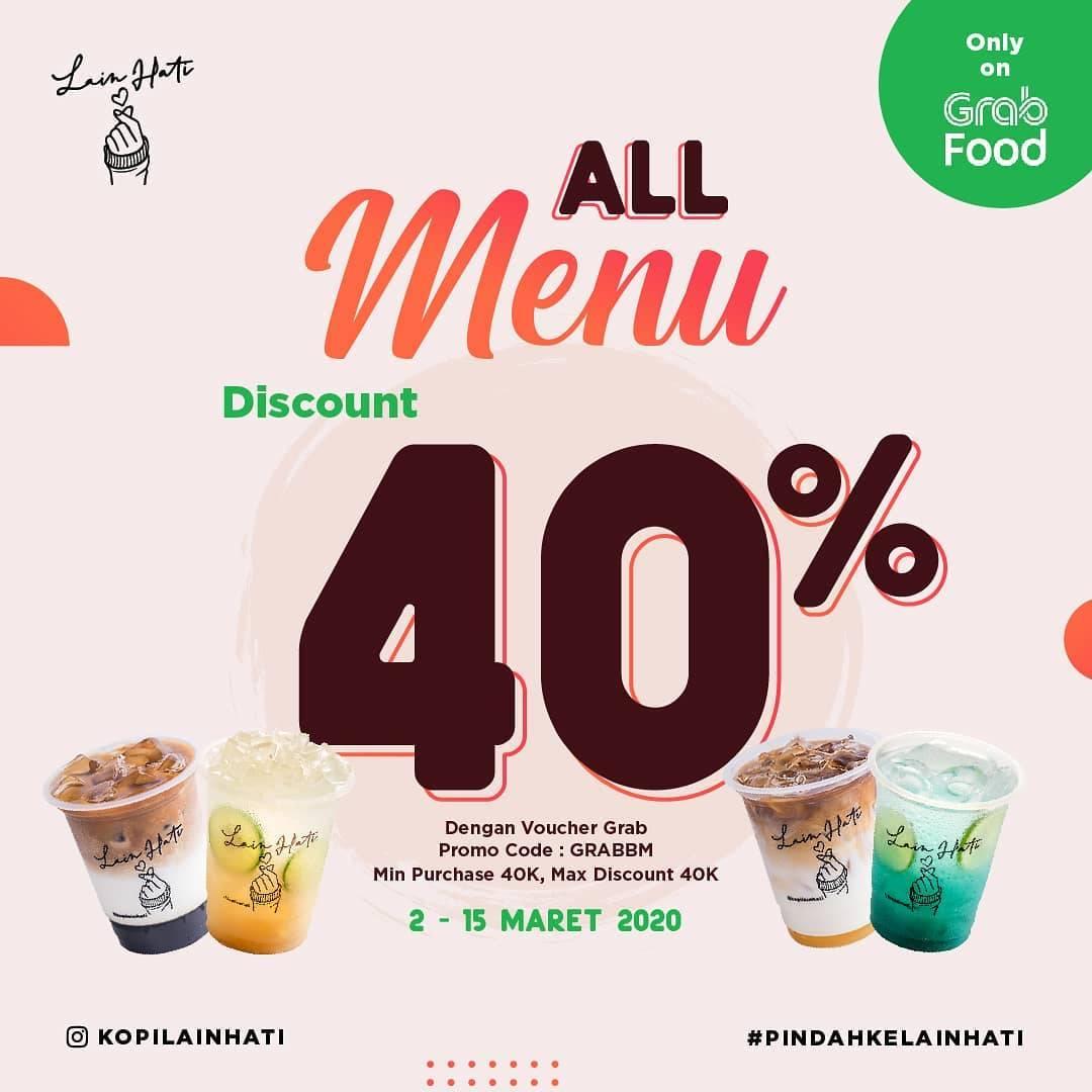Kopi Lain Hati Promo Diskon Hingga 40% Pembelian Melalui Grabfood