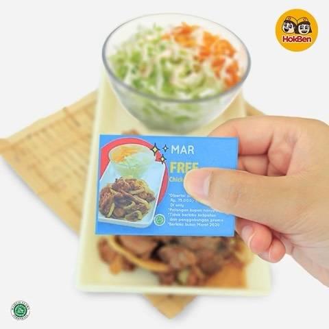 Hokben Promo Gratis Chicken Teriyaki Setiap Transaksi Min. Senilai Rp. 75.000