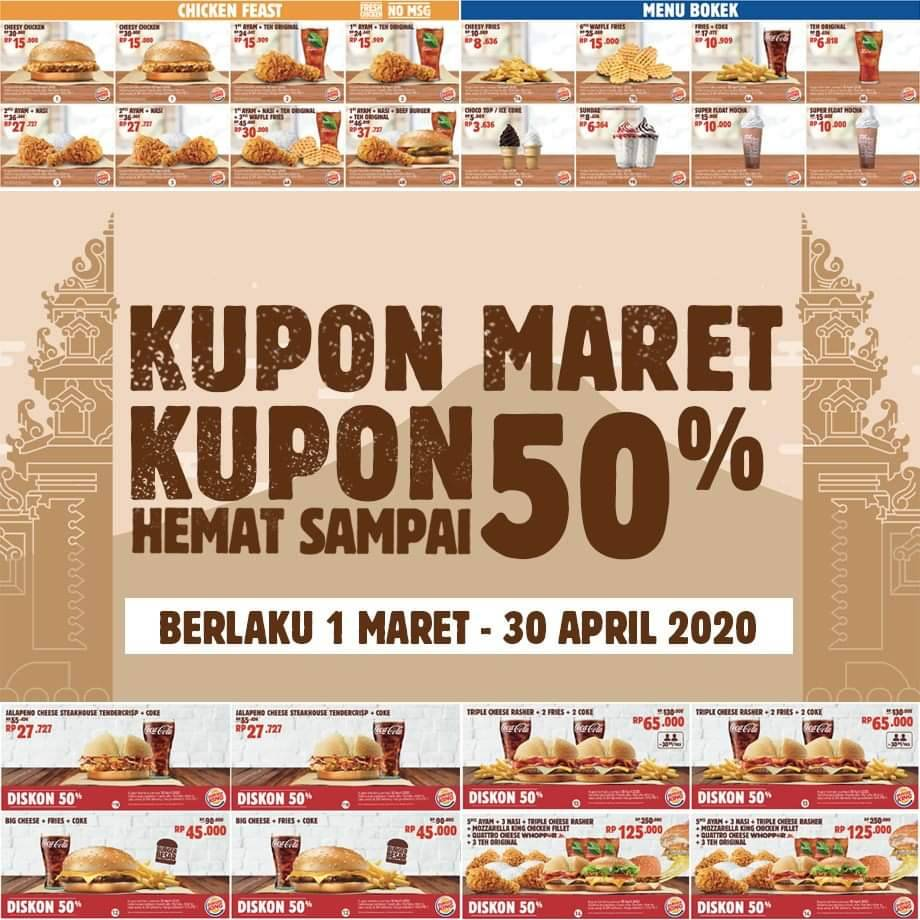 Burger King Promo Kupon 1 Maret - 30 April 2020