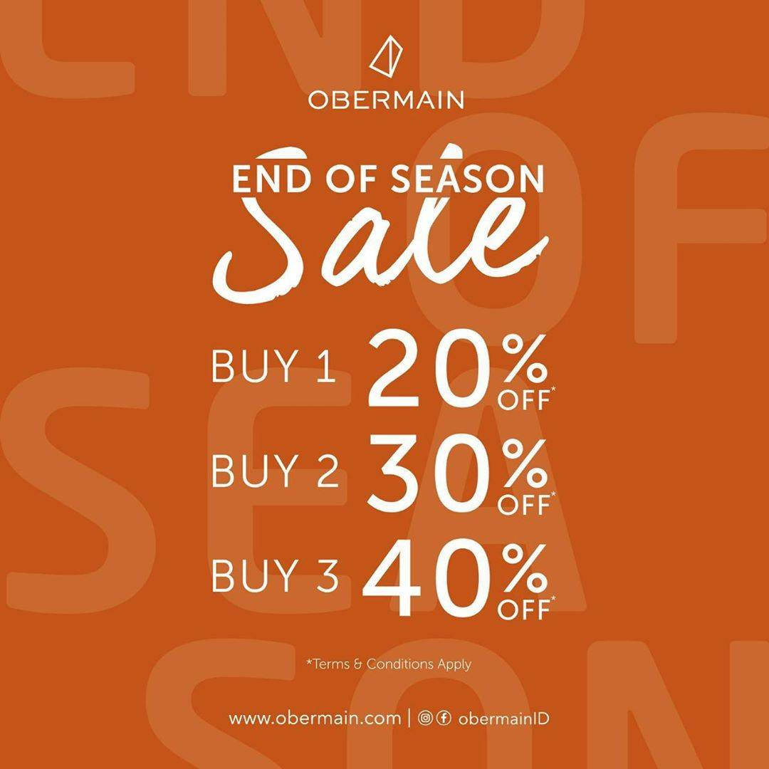 Obermain Promo End Of Season Sale