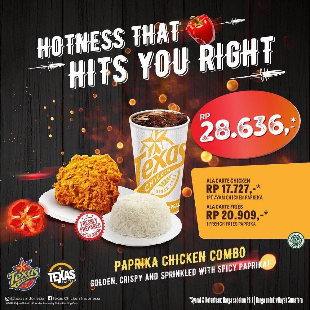 Texas Chicken Promo Harga Spesial Chicken Chili Paprika Packages Mulai Dari Rp. 28.636