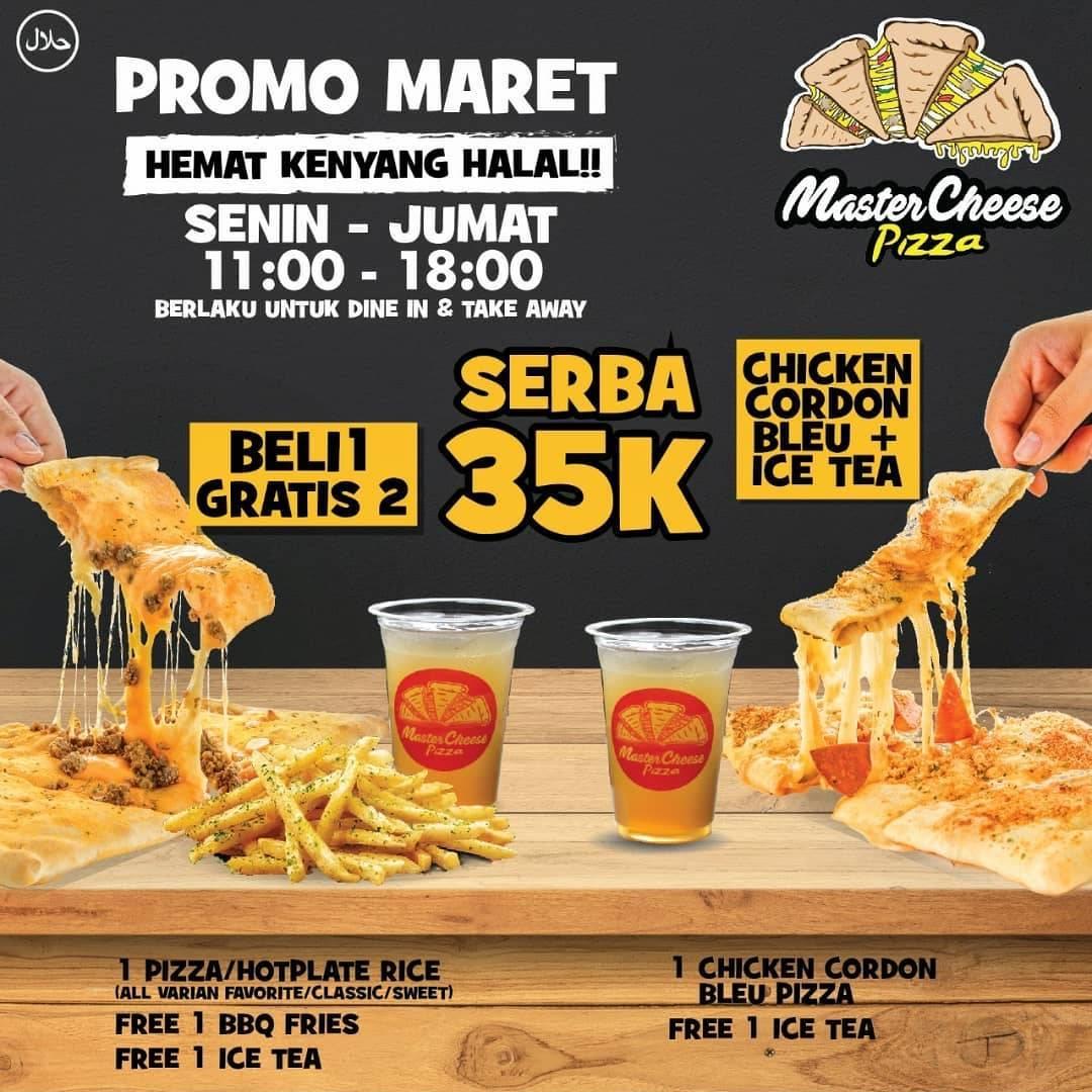 Mastercheese Pizza Promo Hemat Serba Rp. 35.000 Semuanya