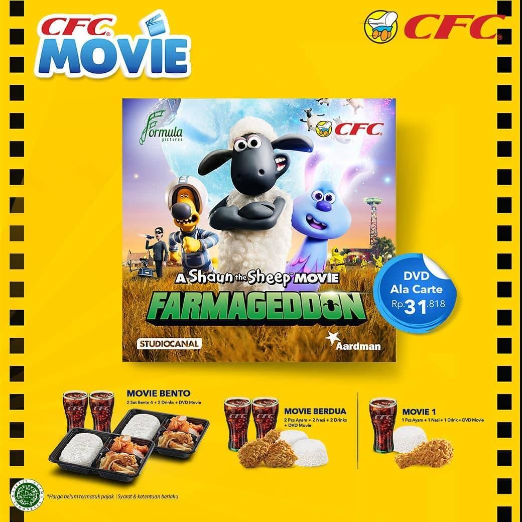 CFC Promo Movie Packages Gratis DVD A Shaun The Sheep Movie Farmaggedon