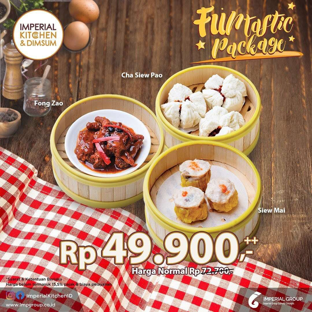 Imperial Kitchen & Dimsum Promo Funtastic Packages Hanya Rp. 49.900