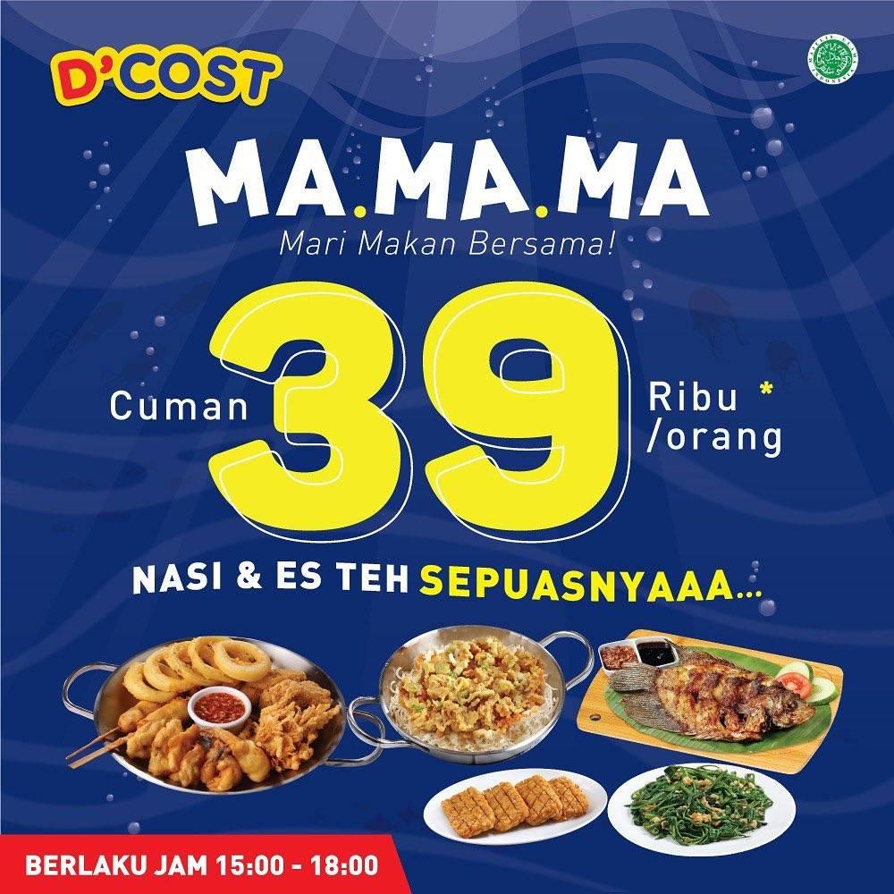 D'Cost Promo Mari Makan Bersama, Nasi & Teh Sepusanya Cuma Rp.39.000/Orang