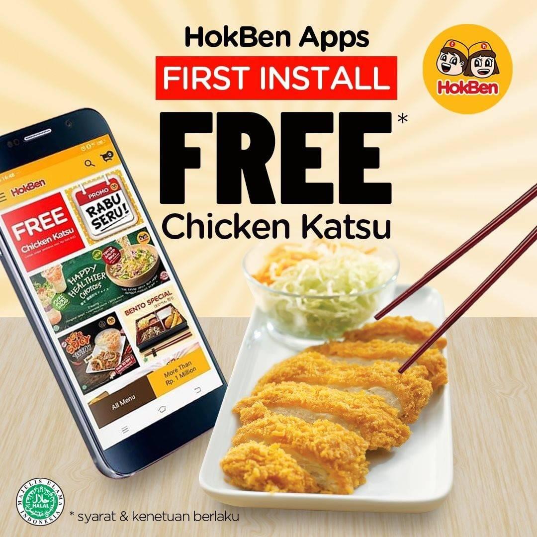 HokBen Promo Gratis Chicken Katsu Setiap Pertama Kali Install Dan Pesan Via App