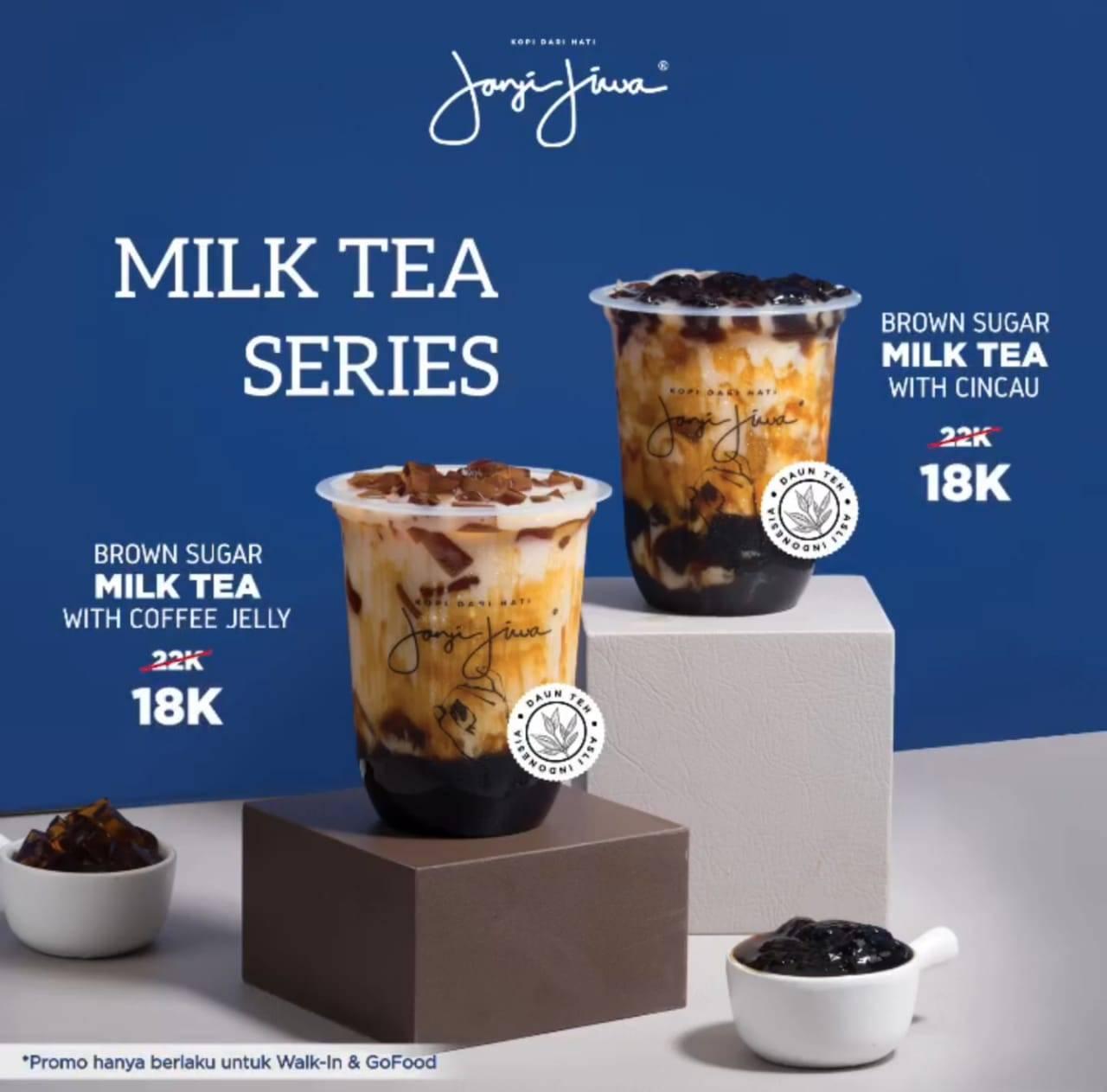 Kopi Janji Jiwa Promo Milk Tea Series Hanya Rp. 18.000