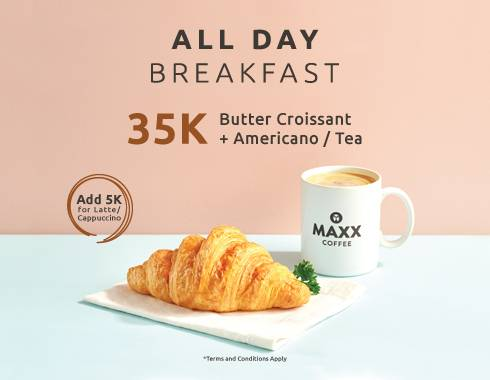 Maxx Coffee Promo Breakfast Packages Special Price Start From IDR 35.000