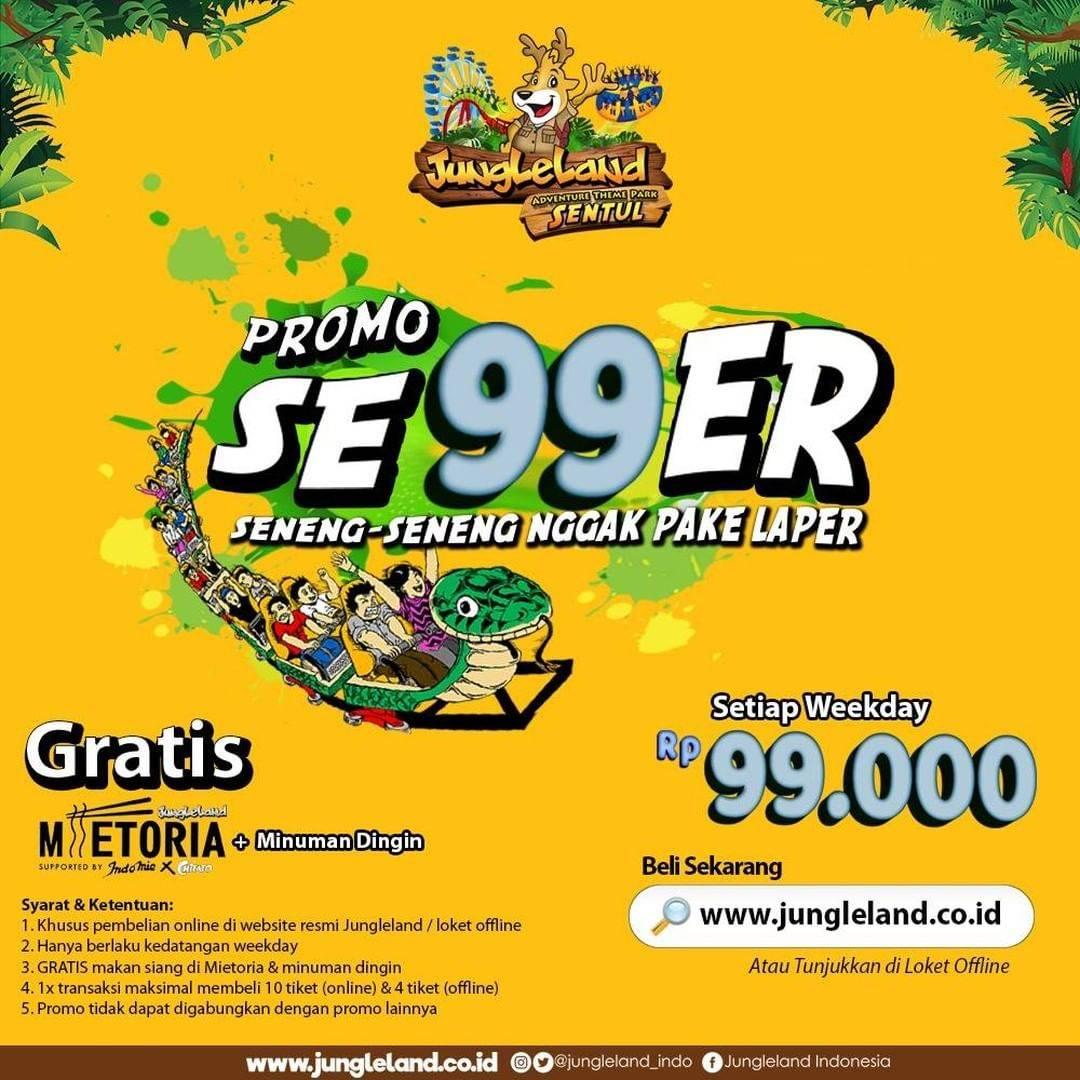 Jungle Land Promo Se99er, Hanya Rp. 99.000 Setiap Weekday