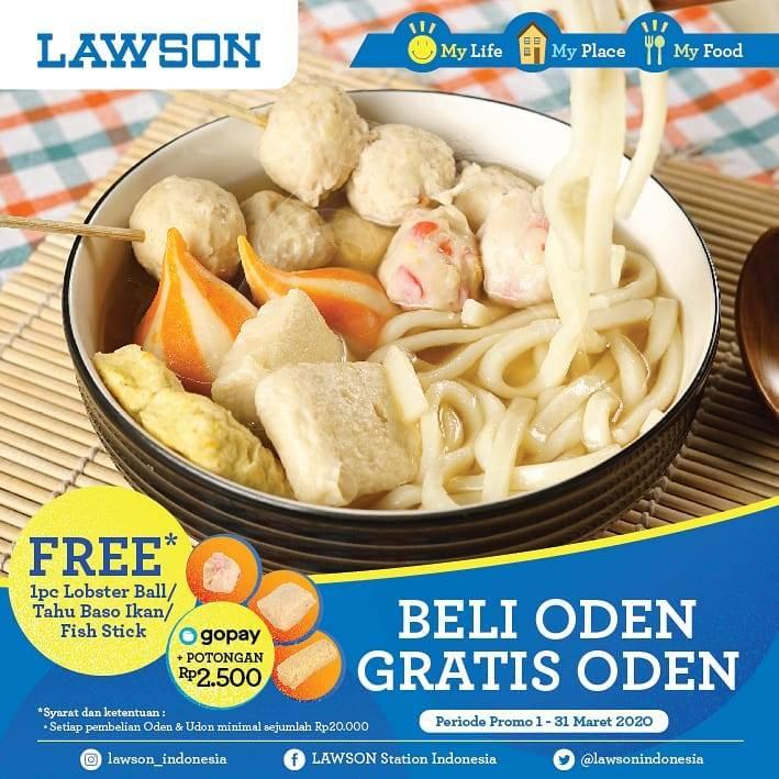 Lawson Promo Gratis 1 Pcs Menu Pilihan Setiap Pembelian Oden & Udon