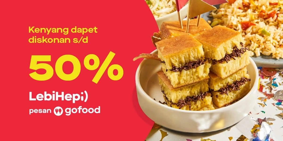 Diskon Gofood Promo Lebih Hepi Diskon Hingga 50% Di Resto Pilihan