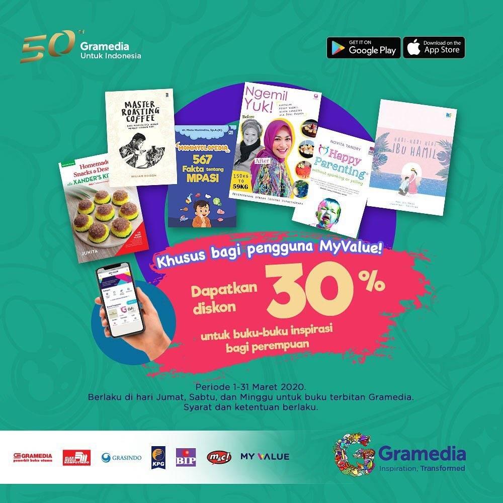 Gramedia Promo Diskon 30% Untuk Buku - Buku Inspirasi Bagi Perempuan