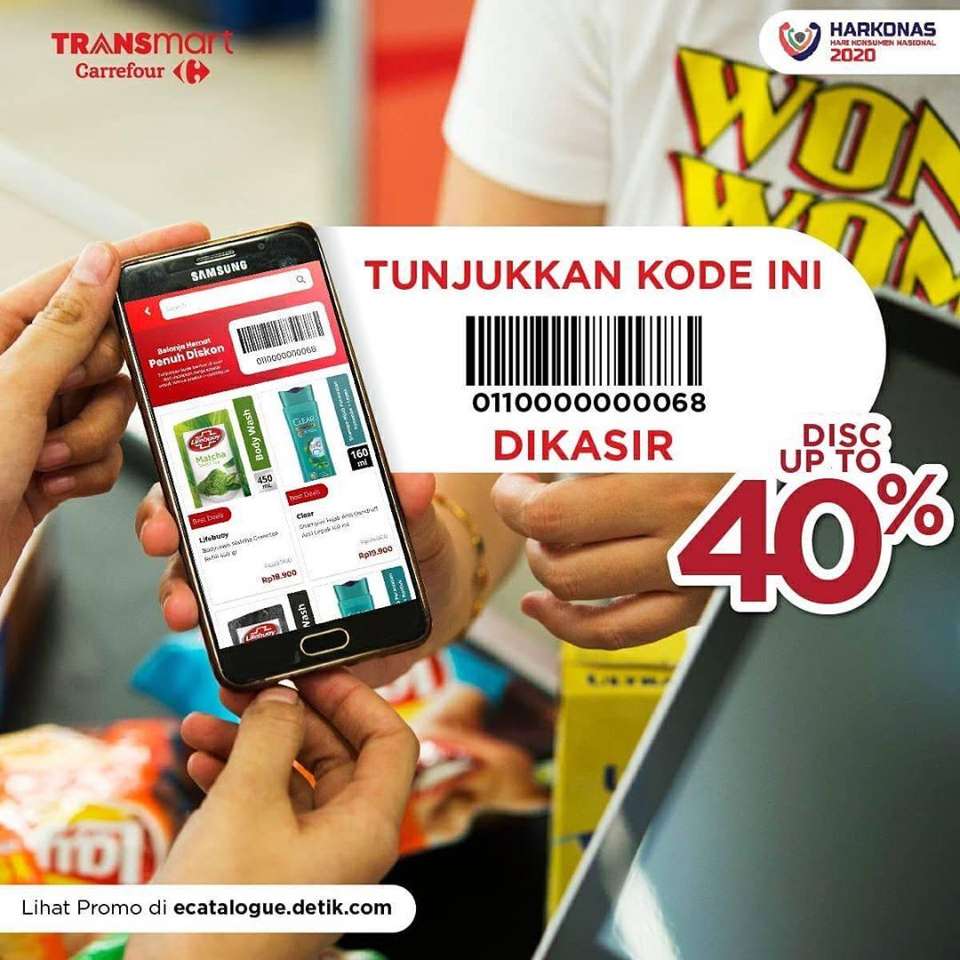 Transmart Carrefour Diskon Hingga 40% Untuk Produk - Produk Pilihan